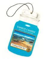 Yankee Candle Osvěžovač do auta Tyrskysová obloha 1x papírová visačka
