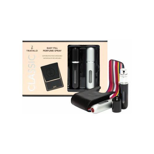 Travalo Classic HD - Black & Silver Set  (free black carry case)