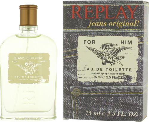 Replay Jeans Original For Him toaletní voda 75 ml Pro muže