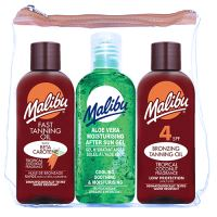 Malibu Bronzing Tanning Oil Travel Bag