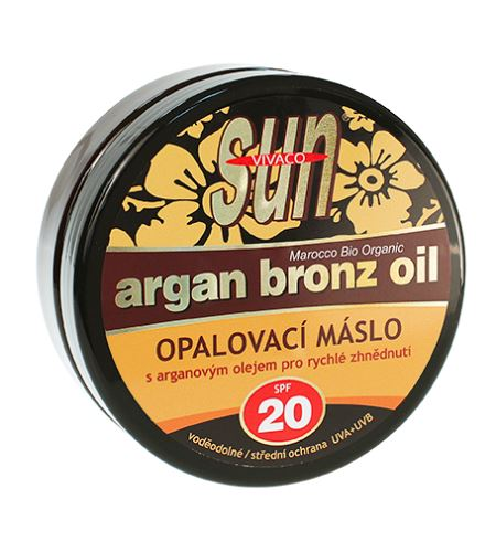 Vivaco SUN opalovací máslo s bio arganovým olejem SPF 20 200 ml