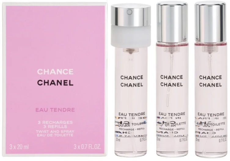 Chanel Chance Eau Tendre Twist And Spray 3 Refills W EDT 3x20ml