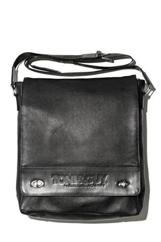 T&G Stylist Bag Large Black Leather / Kožená brašna přes rameno, černá