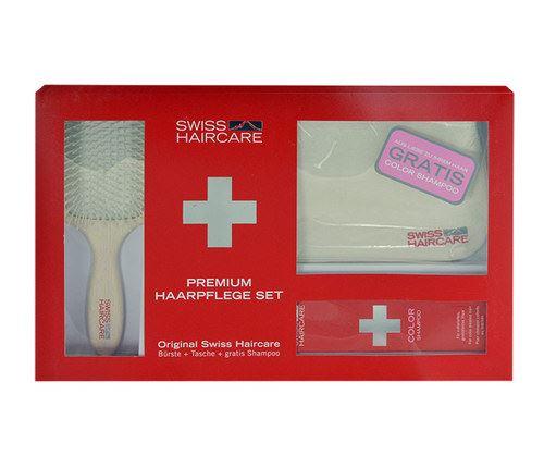 Swiss Haircare Premium Haircare Color Kit Šampon na poškozené, barvené vlasy W Pro barvené vlasy Paddle Brush + Bag + 200ml Color Shampoo