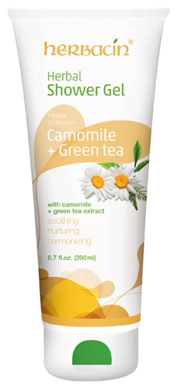 Herbacin Herbal Sprchový gel - commonile+green tea 200ml