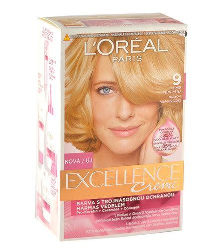 L'Oréal Paris Excellence Creme Hair Colour 1ks W 9 Natural Light Blonde