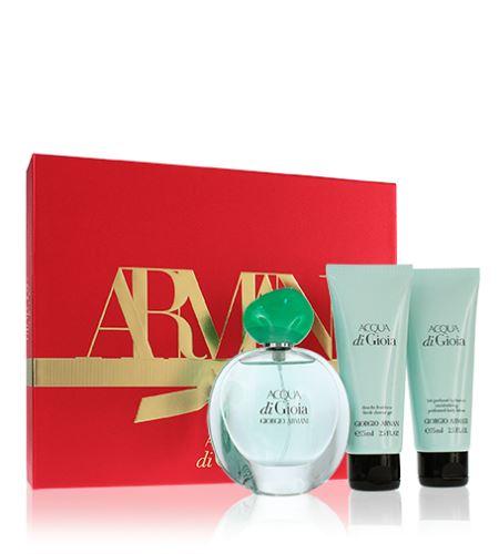 Giorgio Armani Acqua di Gioia parfémovaná voda Pro ženy 50 ml + tělové mléko 75 ml + sprchový gel 75 ml