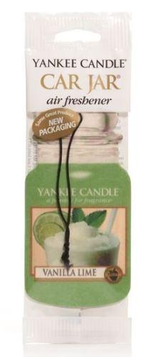 Yankee Candle Osvěžovač do auta Vanilka s limetkou 1x papírová visačka