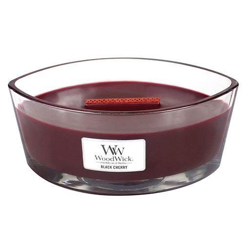 WoodWick Black Cherry vonná svíčka s dřevěným knotem 453,6 g