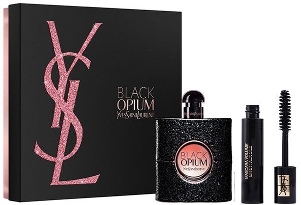 Yves Saint Laurent Black Opium W EDP 30ml + řasenka Volume Effet Faux Cils N.1 2ml
