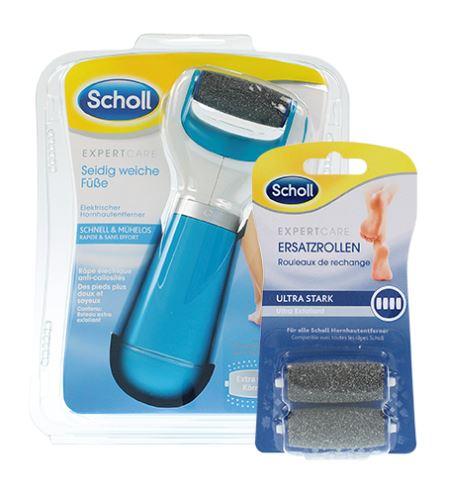 Scholl Expert Care elektrický pilník na chodidla s extra drsnou hlavicí + 2 náhradní hlavice ultra hrubé
