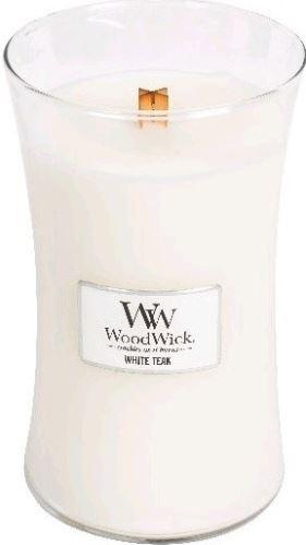 WoodWick White Teak vonná svíčka 609,5 g