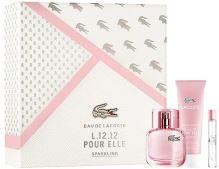 Lacoste Eau De Lacoste L.12.12 Pour Elle Sparkling W EDT 50ml + EDT 7,4ml + SG 50ml