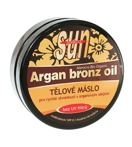 Vivaco SUN opalovací máslo s bio arganovým olejem bez UV filtrů 200 ml