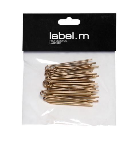 label.m Twisted U-Pin Gold 50mm (40)/Vlásenka  do U vroubkovaná zlatá 50mm 40ks