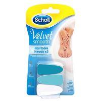 Scholl Velvet Smooth Electronic Nail Care - náhradní hlavice 3ks