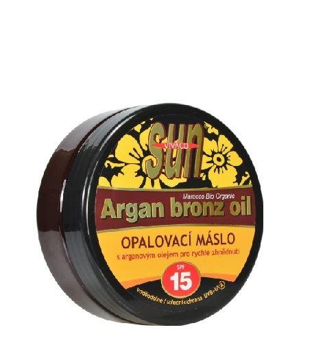 Vivaco SUN opalovací máslo s bio arganovým olejem SPF 15 200 ml