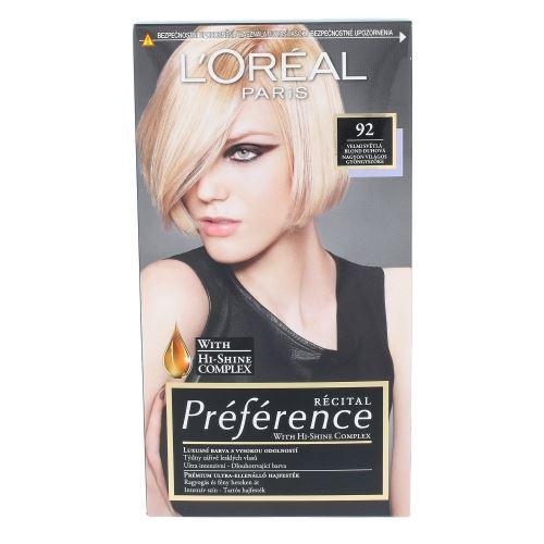 L'Oréal Paris Préférence Récital Hair Colour 1ks W 92