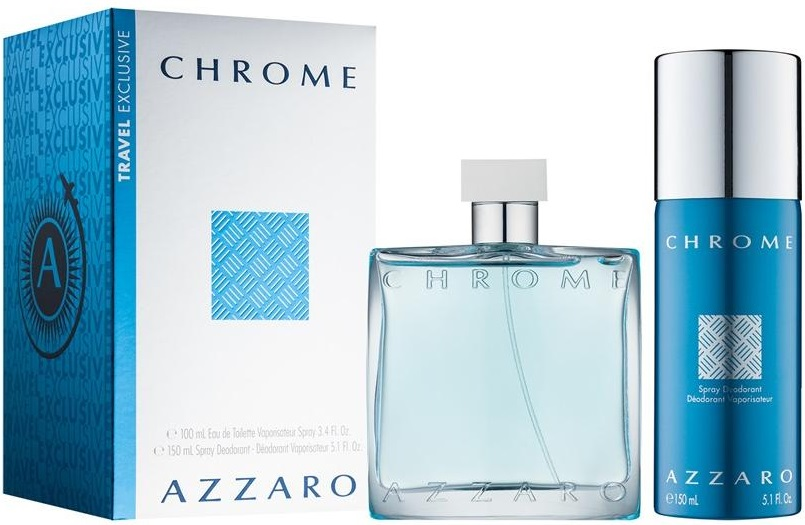 Azzaro Chrome M EDT 100ml + deodorant 150ml