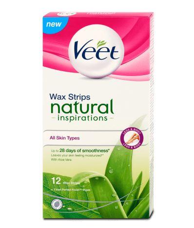 Veet Natural Inspirations Voskové pásky pro normální a suchou pokožku 12ks