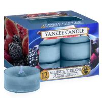 Yankee Candle čajové svíčky 12 x 9,8g Mulberry and fig delight