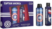 Marvel Captain America Body Spray 200ml + SG & Shampoo 200ml