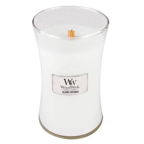 WoodWick Island Coconut                 vonná svíčka s dřevěným knotem 609,5 g