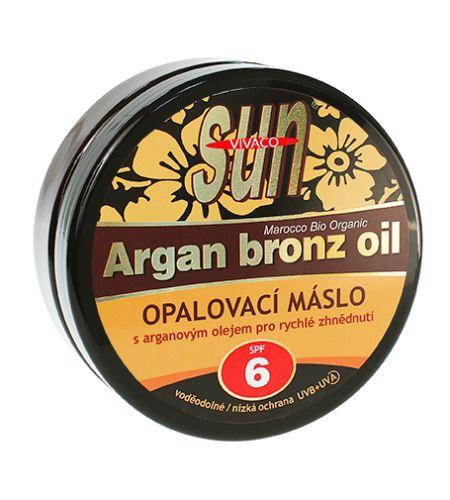 Vivaco SUN opalovací máslo s bio arganovým olejem SPF 6 200 ml
